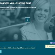 Video: De 80 seconden van … Martine Bond bij Opium Radio